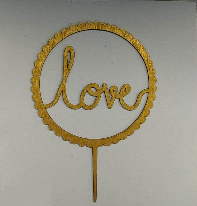 تاپر کیک love -4
