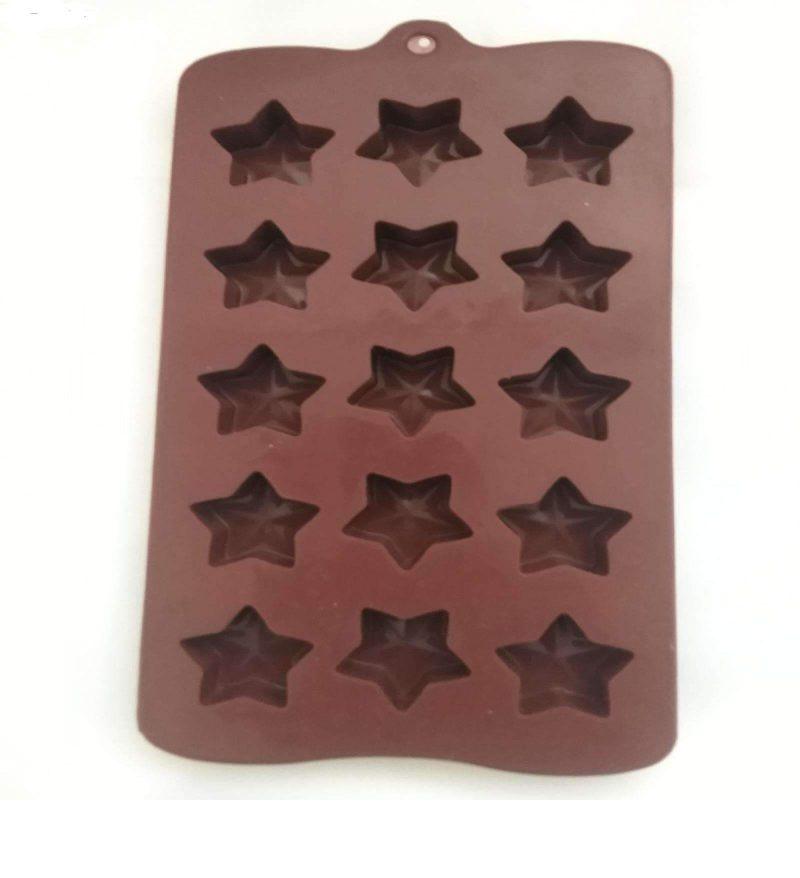 قالب سیلیکونی شکلات ستاره -4