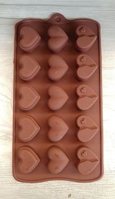 قالب سیلیکونی شکلات طرح قلب (4)