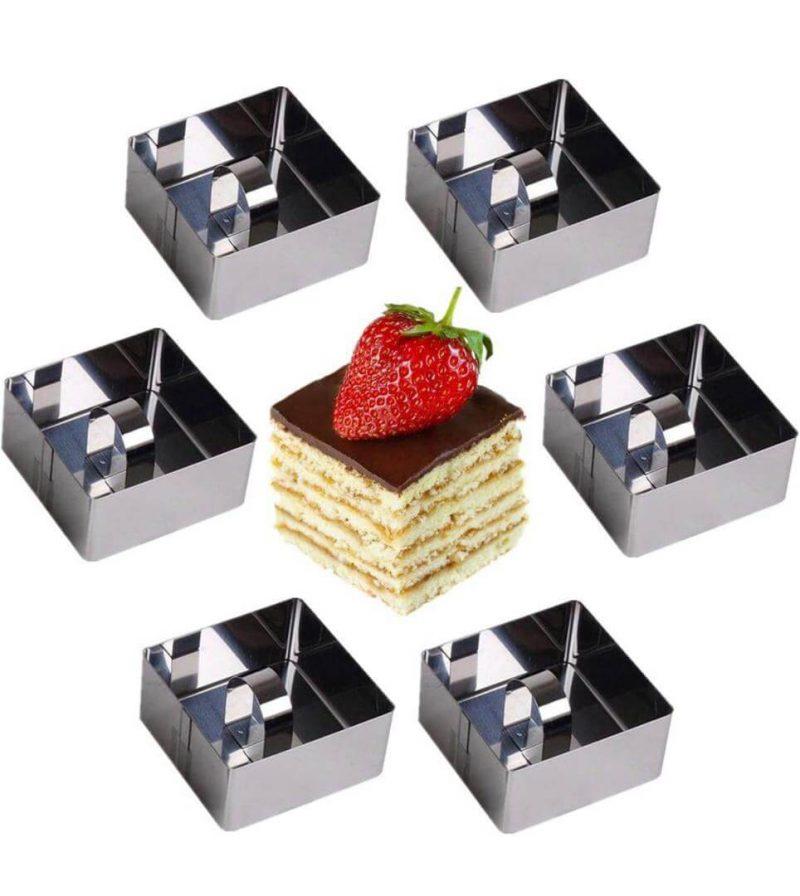 چیز کیک مربع استیل