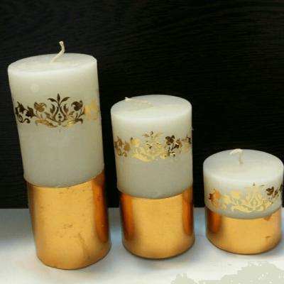 شمع استوانه گرد گلد قطر ۵