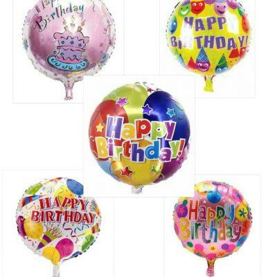بادکنک فویلی گرد Happy Birthday