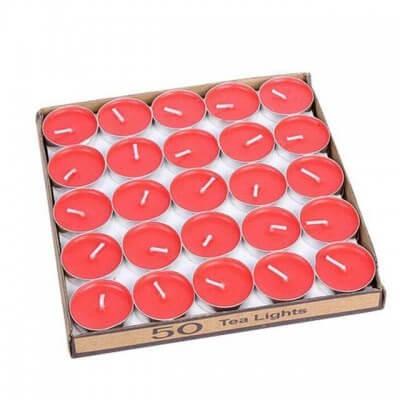 شمع وارمر 50 عددی قرمز-2