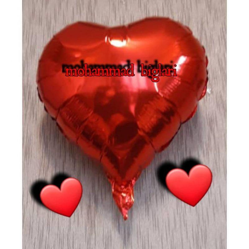بادکنک فویلی قلب کوچک -3