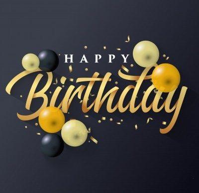 بادکنک happy birthdayمشکی-2