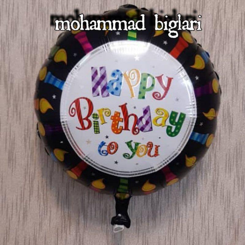 بادکنک happy birthdayمشکی-3