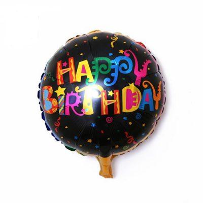بادکنک happy birthdayمشکی