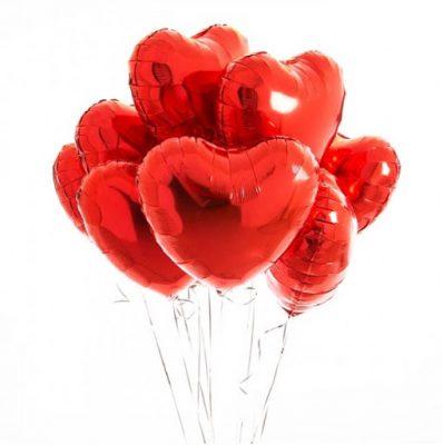بادکنک فویلی قلب کوچک-2