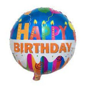 بادکنک آبی رنگ happy birthday