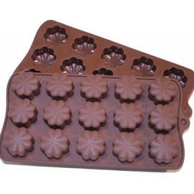 قالب سیلیکون شکلات طرح شبدر 2